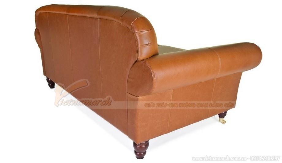 Mẫu ghế sofa da văng thiết kế chân xoay linh động - 05