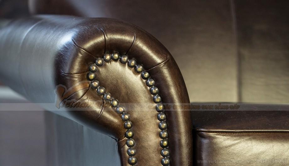 Mẫu ghế sofa da văng thiết kế chân xoay linh động - 07