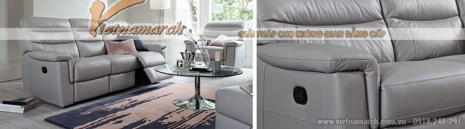 Mẫu ghế sofa da văng thông minh cho không gian phòng khách - 01