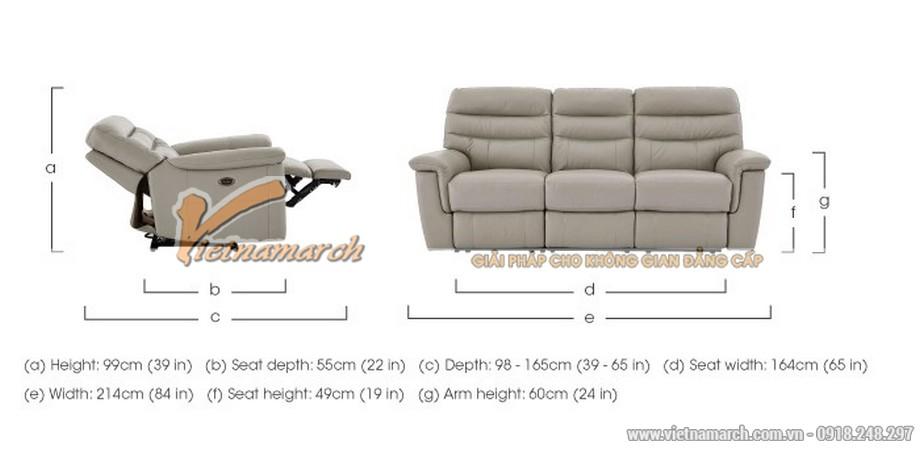 Mẫu ghế sofa da văng thông minh cho không gian phòng khách - 08