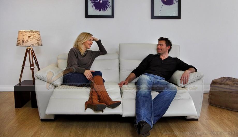 Mẫu ghế sofa da văng thông minh với hai vị trí ngồi - 01