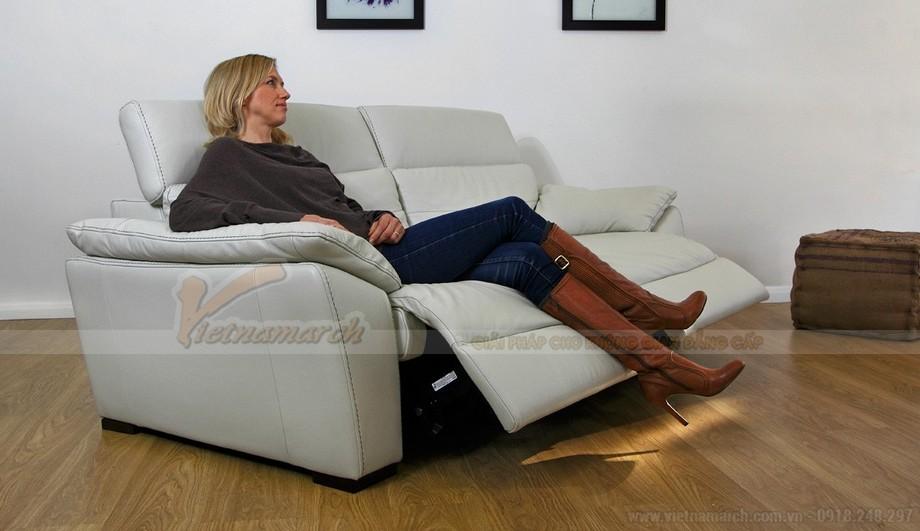 Mẫu ghế sofa da văng thông minh với hai vị trí ngồi - 04