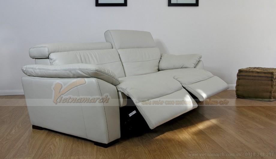 Mẫu ghế sofa da văng thông minh với hai vị trí ngồi - 02
