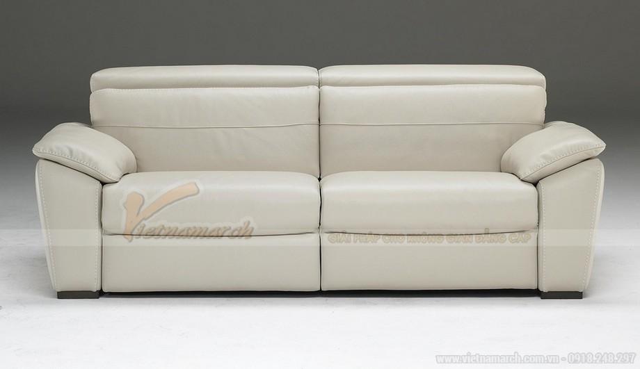 Mẫu ghế sofa da trắng đẹp lung linh cho không gian phong khách - 06