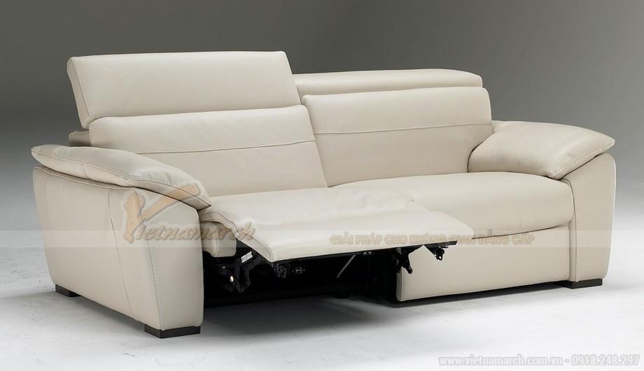 Mẫu ghế sofa da trắng đẹp lung linh cho không gian phong khách - 05
