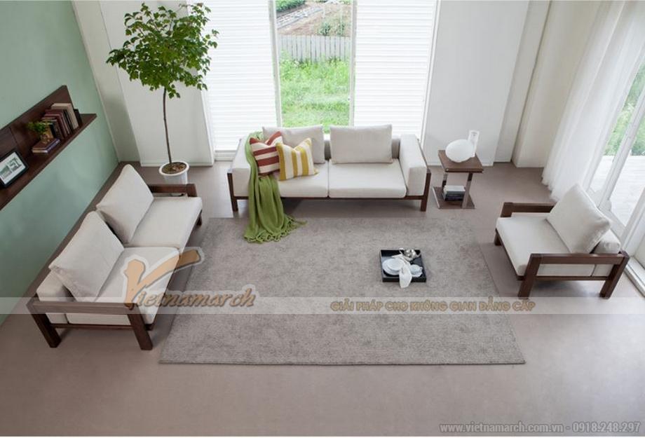 Mẫu ghế sofa gỗ hiện đại siêu đẹp cho phòng khách