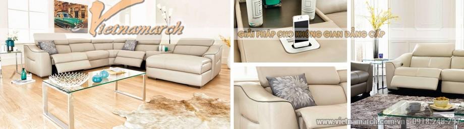 Mẫu ghế sofa góc chất liệu da American đẳng cấp - 01
