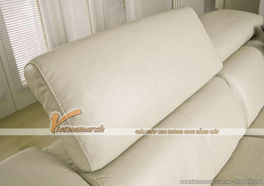 Mẫu ghế sofa góc chất liệu da American đẳng cấp - 02