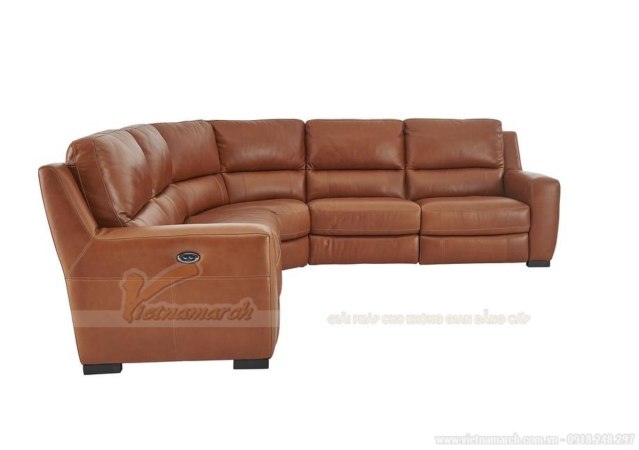 Mẫu ghế sofa góc chất liệu da phong cách Tây Âu - 03