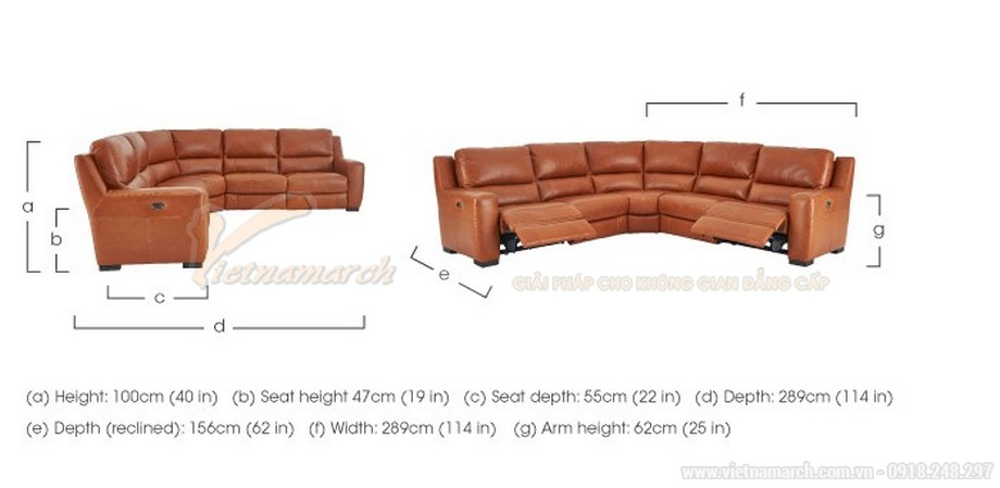 Mẫu ghế sofa góc chất liệu da phong cách Tây Âu - 06