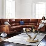 Mẫu ghế sofa góc chất liệu da phong cách Tây Âu – Mã: SDG-069