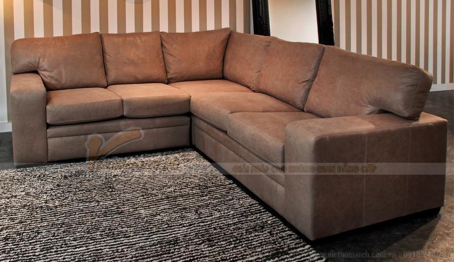 Mẫu ghế sofa góc da công nghiệp phong cách cổ điển - 01