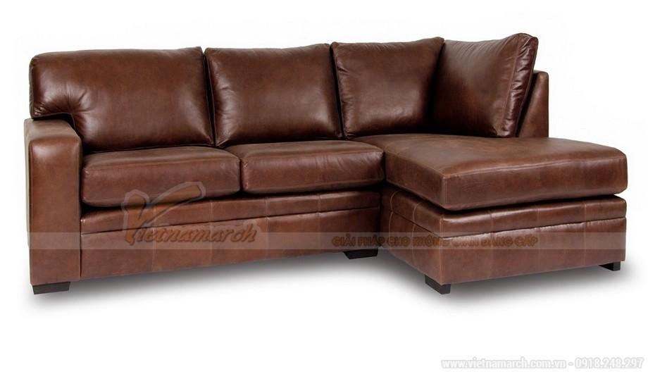 Những mẫu ghế sofa da nâu đẹp quyến rũ cho không gian phòng khách - 05