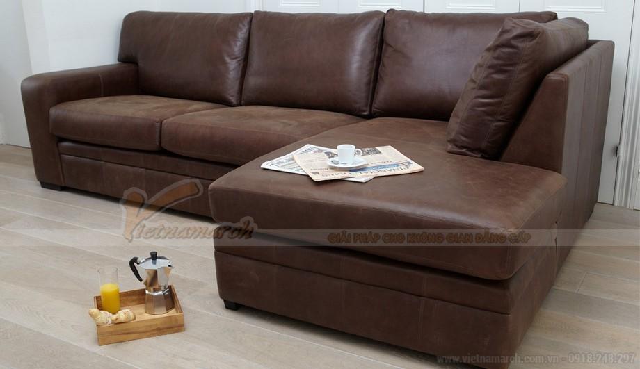 Mẫu ghế sofa góc da công nghiệp phong cách cổ điển - 03