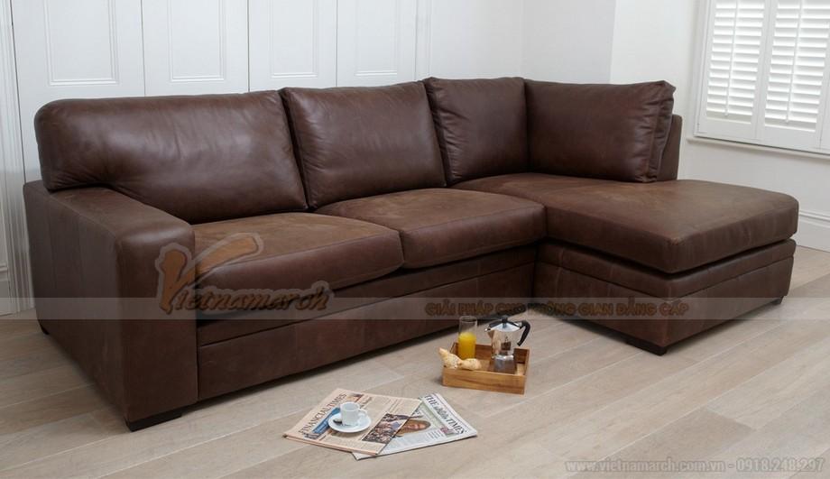 Mẫu ghế sofa góc da công nghiệp phong cách cổ điển - 05