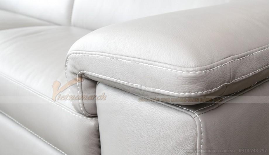 Mẫu ghế sofa phòng khách chất liệu da bò cao cấp - 03