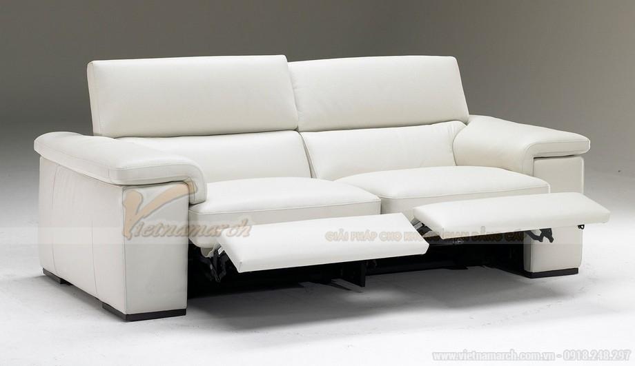 Mẫu ghế sofa phòng khách chất liệu da bò cao cấp - 02