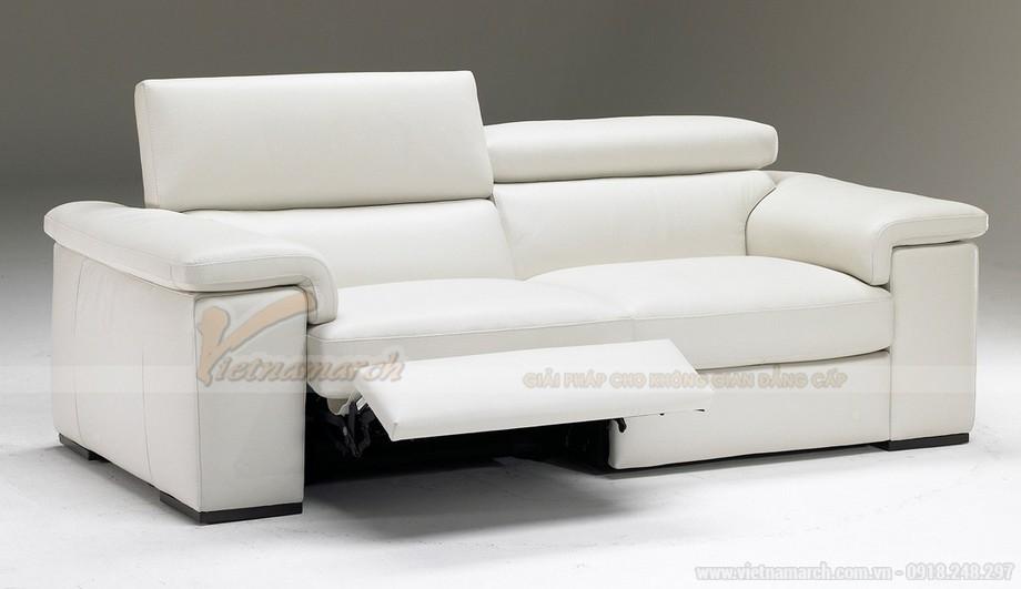 Mẫu ghế sofa phòng khách chất liệu da bò cao cấp - 05