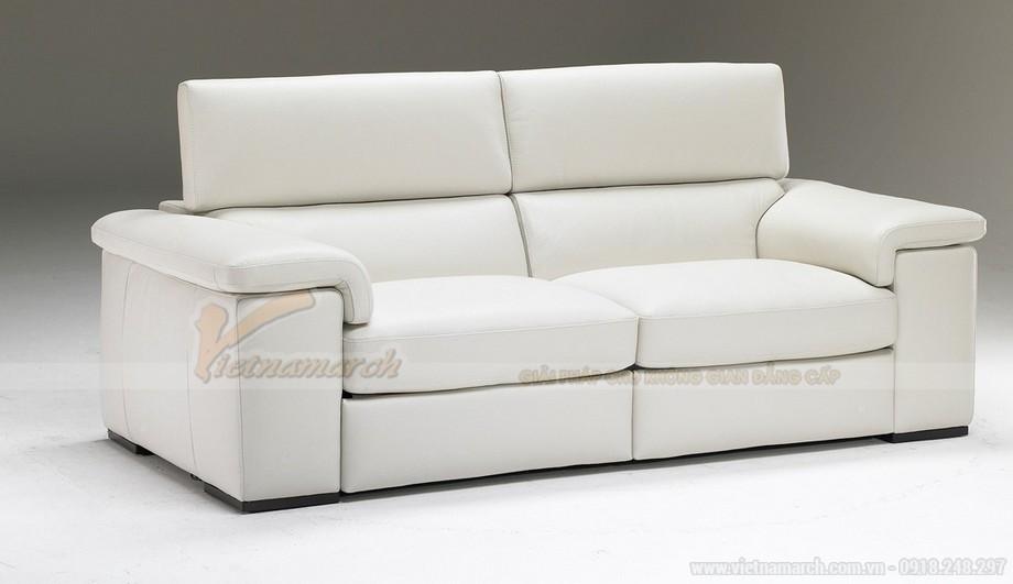 Mẫu ghế sofa phòng khách chất liệu da bò cao cấp - 01