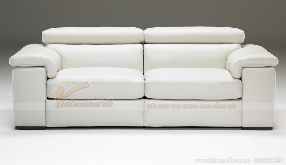 Mẫu ghế sofa phòng khách chất liệu da bò cao cấp - 06