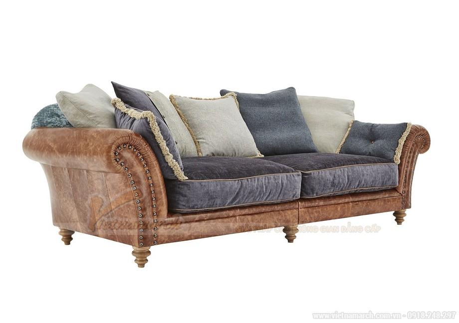 Mẫu ghế sofa thấp bọc da phần khung dưới nhập khẩu Ấn Độ - 02