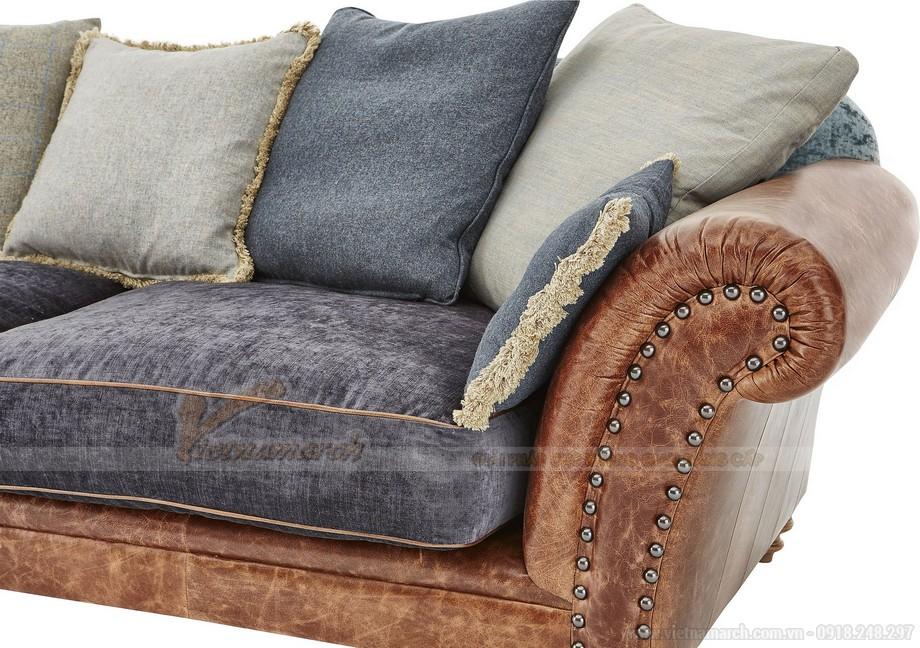 Mẫu ghế sofa thấp bọc da phần khung dưới nhập khẩu Ấn Độ - 03