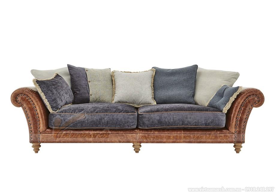 Mẫu ghế sofa thấp bọc da phần khung dưới nhập khẩu Ấn Độ - 05