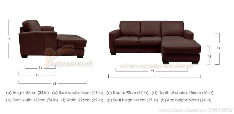 Bộ ghế sofa góc bọc da sang trọng dành cho người trung tuổi - Mã: SDG-058