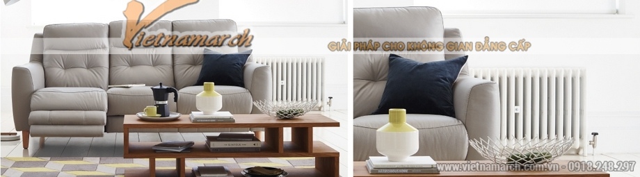 Mẫu ghế sofa văng 3 chỗ ngồi giả da cực đẹp - 01