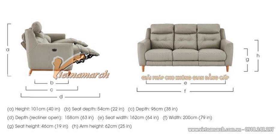 Mẫu ghế sofa văng 3 chỗ ngồi giả da cực đẹp - 04