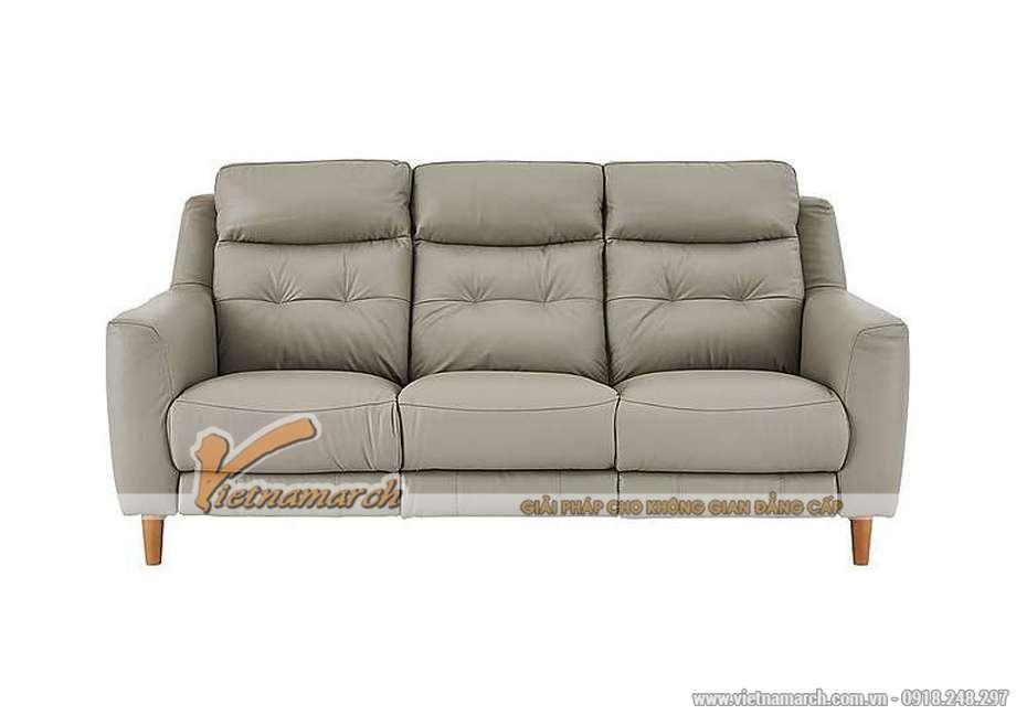Mẫu ghế sofa văng 3 chỗ ngồi giả da cực đẹp - 02