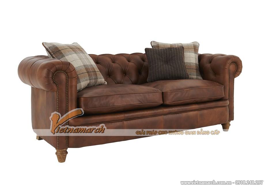 Mẫu ghế sofa văng da bò cao cấp - 03