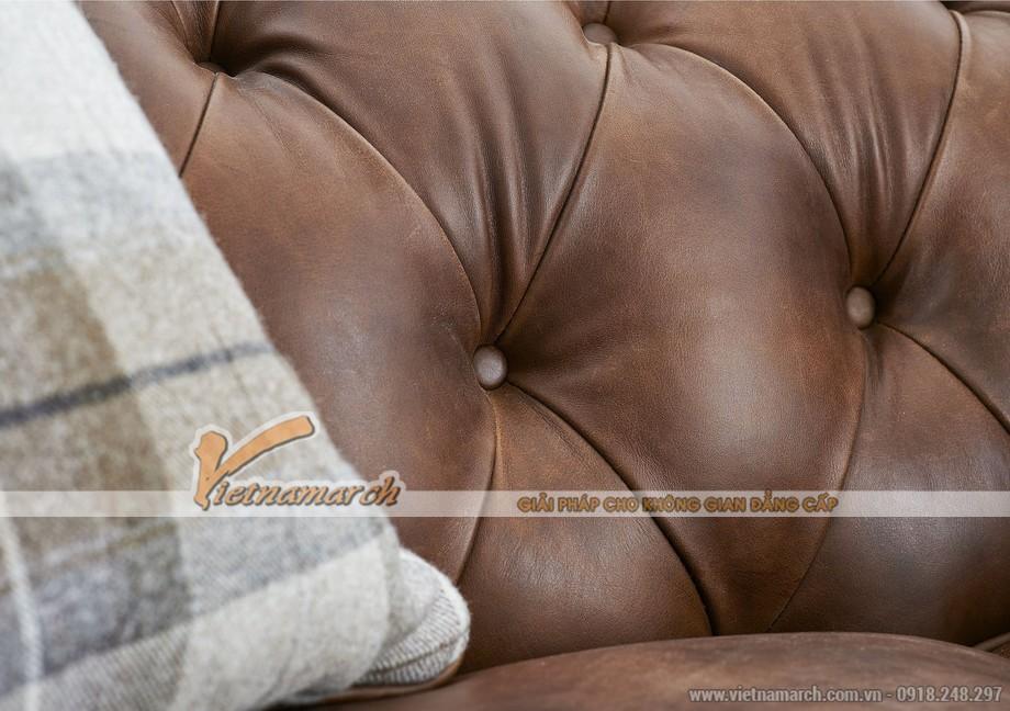 Mẫu ghế sofa văng da bò cao cấp - 06