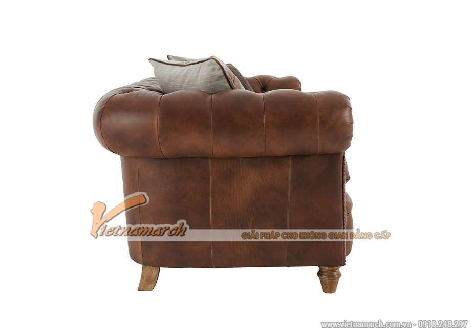 Mẫu ghế sofa văng da bò cao cấp - 07