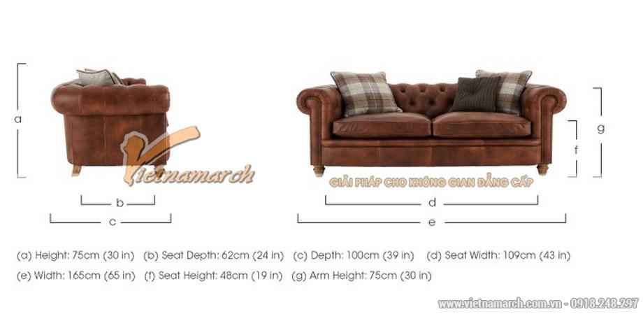 Mẫu ghế sofa văng da bò cao cấp - 08