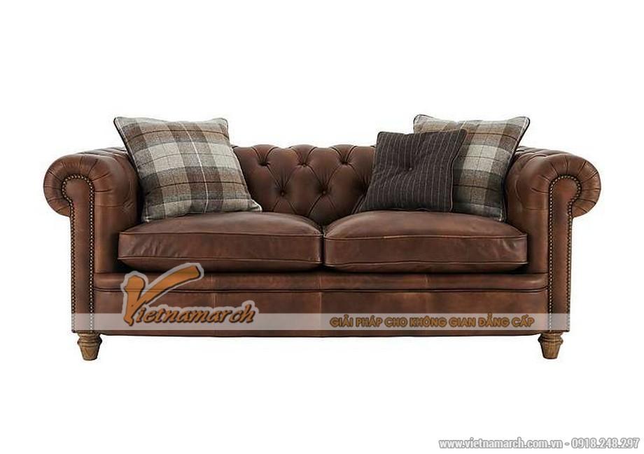 Mẫu ghế sofa văng da bò cao cấp - 02