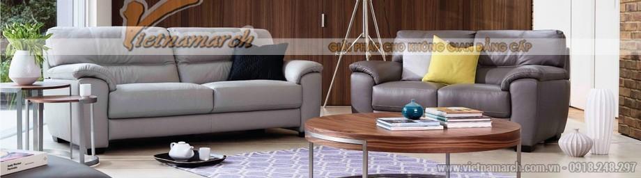 Mẫu ghế sofa văng giả da cực cuốn hút - 01