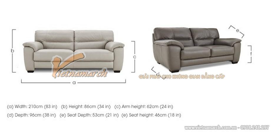 Mẫu ghế sofa văng giả da cực cuốn hút - 08