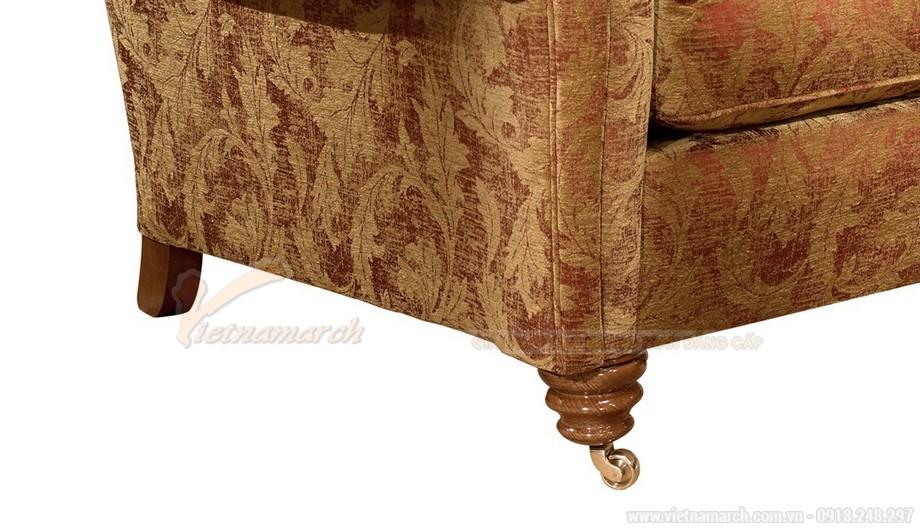 Mẫu ghế sofa văng bọc vải phong cách tân cổ điển quý phái - 03