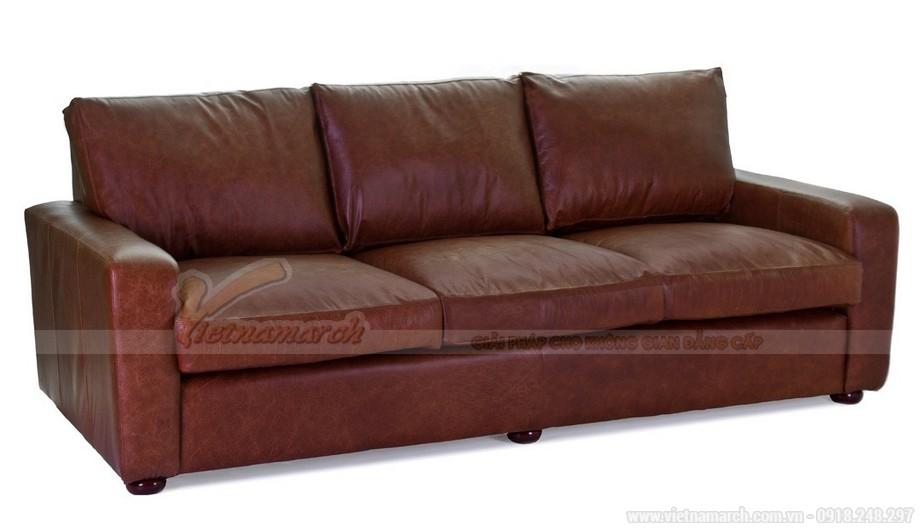 Mẫu ghế sofa văng chất liệu da nhập khẩu từ Úc - 01