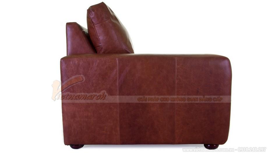 Mẫu ghế sofa văng chất liệu da nhập khẩu từ Úc - 03