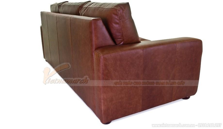 Mẫu ghế sofa văng chất liệu da nhập khẩu từ Úc - 02