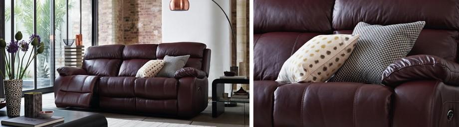 Mẫu ghế sofa văng chất liệu da thật từ Ý - 01