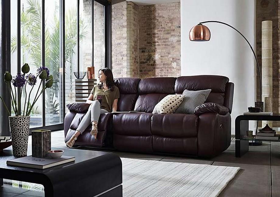 Mẫu ghế sofa văng chất liệu da thật từ Ý - 02