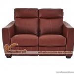 Mẫu ghế sofa văng da đỏ khung gỗ Sồi cao cấp – Mã: SDV-054