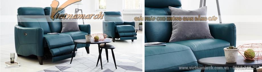Mẫu ghế sofa văng da nhập khẩu Hàn Quốc kiểu dáng trẻ trung - 01