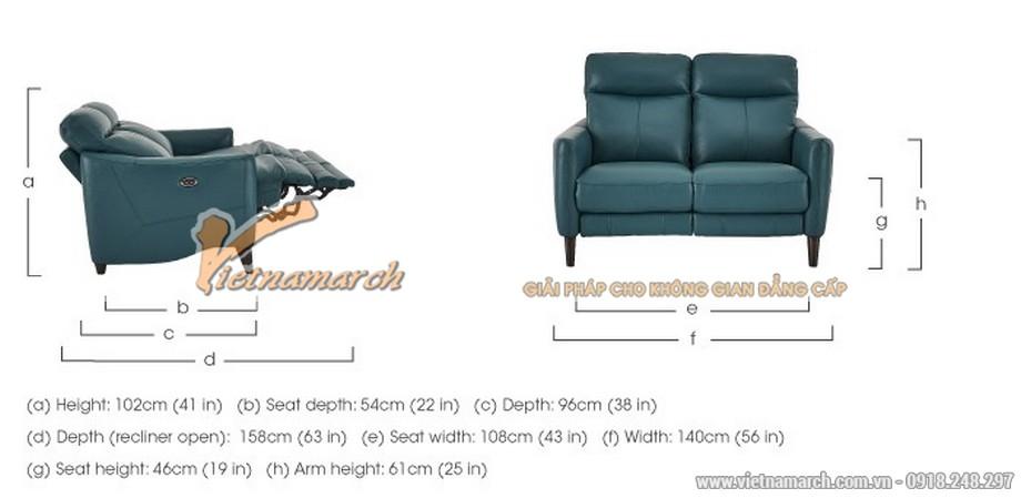 Mẫu ghế sofa văng da nhập khẩu Hàn Quốc kiểu dáng trẻ trung - 06