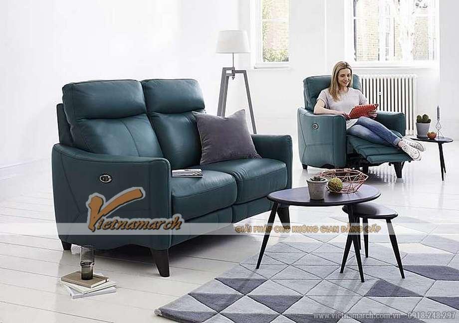 Mẫu ghế sofa văng da nhập khẩu Hàn Quốc kiểu dáng trẻ trung - 05