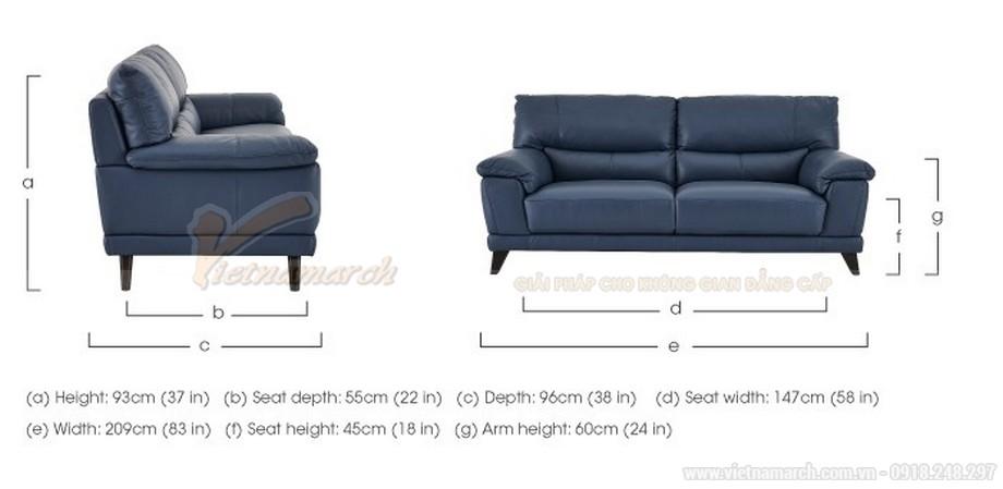 Mẫu ghế sofa văng hai chỗ ngồi da nhập khẩu từ Canada - 06