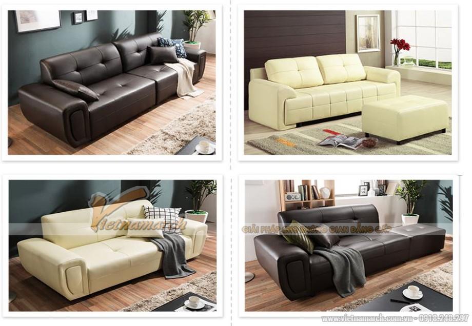Mẫu thiết kế sofa da văng SDV- 023 hiện đại và sang trọng
